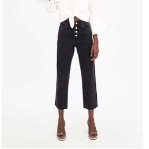 Zara High Rise Straight Leg Jean